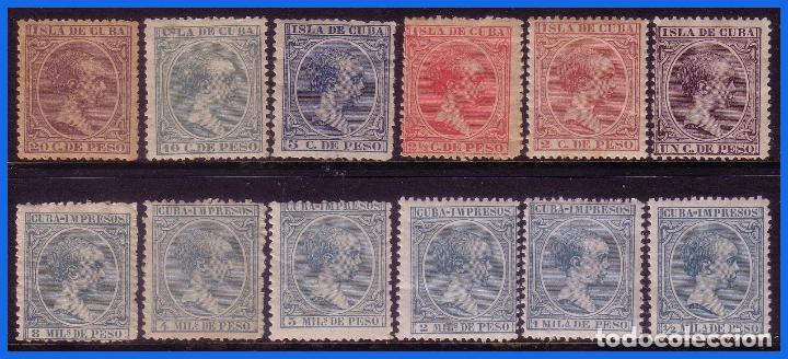 CUBA 1896 ALFONSO XIII, EDIFIL Nº 140 A 151 * (Sellos - España - Colonias Españolas y Dependencias - América - Cuba)