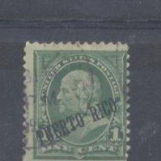 Sellos: PUERTO RICO 1899 SELLOS EEUU, HABILITADOS, IVERT Nº 174 , USADO. Lote 137814977