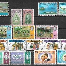Sellos: OLECCION DE SERIES DE DOMINICA NUEVAS SIN CHARNELA. Lote 115019547
