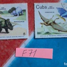 Sellos: SELLOS USADOS FAUNA DINOSAURIOS CUBA. Lote 115530599