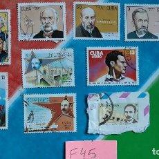 Sellos: CUBA SELLOS USADOS PERSONAJES HISTORICOS CELEBRIDADES. Lote 115531087