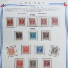 Sellos: COLONIAS. CUBA. 1898. ALFONSO XII. SERIE COMPLETA. NUEVO. EDIFIL Nª 154 A 173. Lote 115581599
