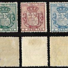 Sellos: SELLOS. COLONIAS. CUBA.TELÉGRAFOS EDIFIL Nº49 AL 51. NUEVO.. Lote 115759335