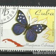 Sellos: CUBA - SELLO USADO-MARIPOSAS. Lote 117312931
