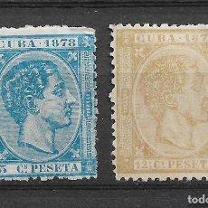 Sellos: ESPAÑA ULTRAMAR 1878 EDIFIL 44 Y 46 (*) - 3/33. Lote 117982955