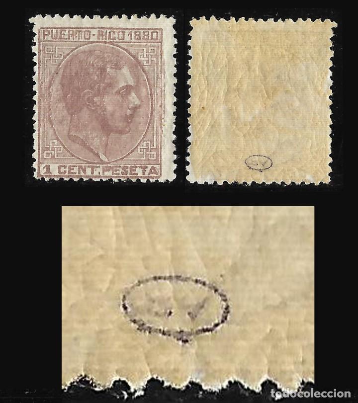 SELLOS ESPAÑA. COLONIAS ESPAÑOLAS. PUERTO RICO. 1880. ALFONSO XII . EDF.Nº31. 1C. MALVA. NUEVO**. LU (Briefmarken - Spanien - Spanische Kolonien und Abhängigkeiten - Amerika - Puerto Rico)
