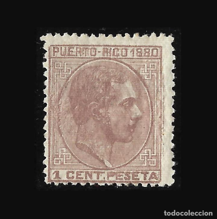 Briefmarken: Sellos España. Colonias Españolas. Puerto Rico. 1880. Alfonso XII . Edf.Nº31. 1c. malva. Nuevo**. Lu - Foto 2 - 117997791
