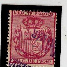Sellos: CUBA - 1892 TELEGRAFOS NUM 75 USADO CON FIJASELLOS . Lote 120667615