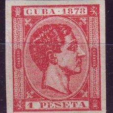 Sellos: AÑO 1878. CUBA 49 (*) NUEVO SIN GOMA VC 70 EUROS. LUJO. Lote 120819811