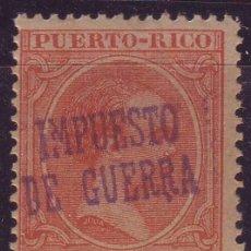Sellos: PUERTO RICO IMPUESTO GUERRA 4 J **MNH SOBRECARGA INVERTIDA VC 40 EUROS. Lote 121666635