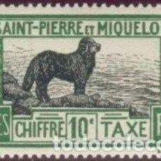 Sellos: SELLO NUEVO CON MARCA DE CHARNELA DE SPM, YT T 22. Lote 122430859