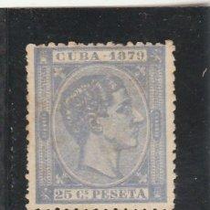 Sellos: CUBA 1879 - EDIFIL NRO. 53 - ALFONSO XII - 25C. - SIN GOMA. Lote 125082932