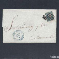 Sellos: CUBA-ANTILLAS.CARTA.AÑO 1858.. Lote 125343479