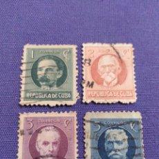 Sellos: CUBA USADOS 1917. POLÍTICOS CUBANOS. Lote 126962779