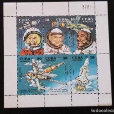Sellos: CUBA HOJA 1ER HOMBRE EN EL ESPACIO 1991. Lote 127160835
