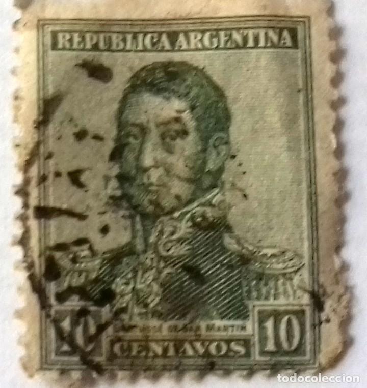 Sellos: SELLO 2 CENTAVOS NICARAGUA AÑO 1899. Y REGALO SELLO ARGENTINA 10 CENTAVOS SAN MARTIN AÑO 1920 APROX. - Foto 3 - 128040255