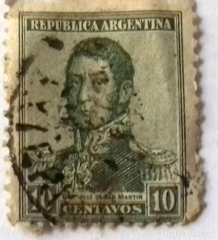 Sellos: SELLO 2 CENTAVOS NICARAGUA AÑO 1899. Y REGALO SELLO ARGENTINA 10 CENTAVOS SAN MARTIN AÑO 1920 APROX. - Foto 5 - 128040255