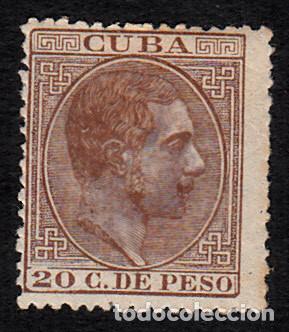 CUBA NUM. 73 CON FIJASELLOS -MARQUILLADO (Sellos - España - Colonias Españolas y Dependencias - América - Cuba)