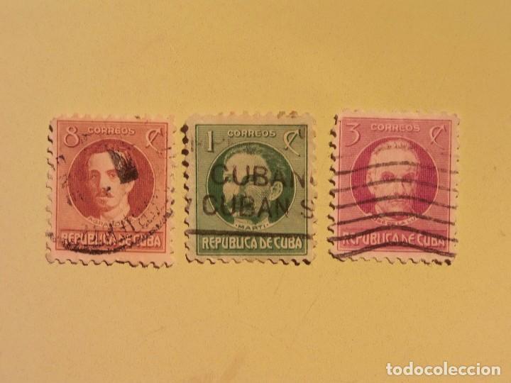 CUBA - PERSONAJES - AGRAMONTE - JOSE MARTI - JOSE DE LA LUZ. (Sellos - España - Colonias Españolas y Dependencias - América - Cuba)