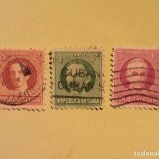Sellos: CUBA - PERSONAJES - AGRAMONTE - JOSE MARTI - JOSE DE LA LUZ.. Lote 128132135