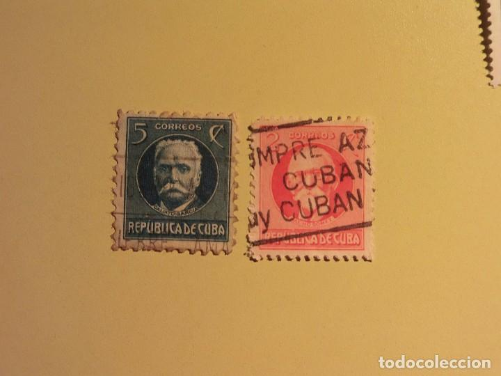 CUBA - PERSONAJES - CALISTO GARCIA - MAXIMO GOMEZ. (Sellos - España - Colonias Españolas y Dependencias - América - Cuba)