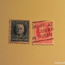 Sellos: CUBA - PERSONAJES - CALISTO GARCIA - MAXIMO GOMEZ.. Lote 128132331
