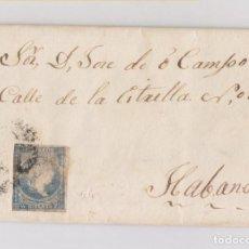 Sellos: CARTA ENTERA DE MELENA DEL SUR. CUBA. A LA HABANA. 1863. Lote 128338703