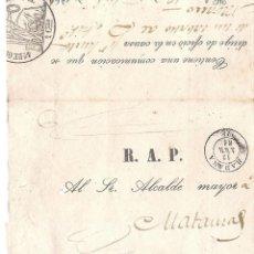 Sellos: CUBA.CARTA AÑO 1861.. Lote 213887166