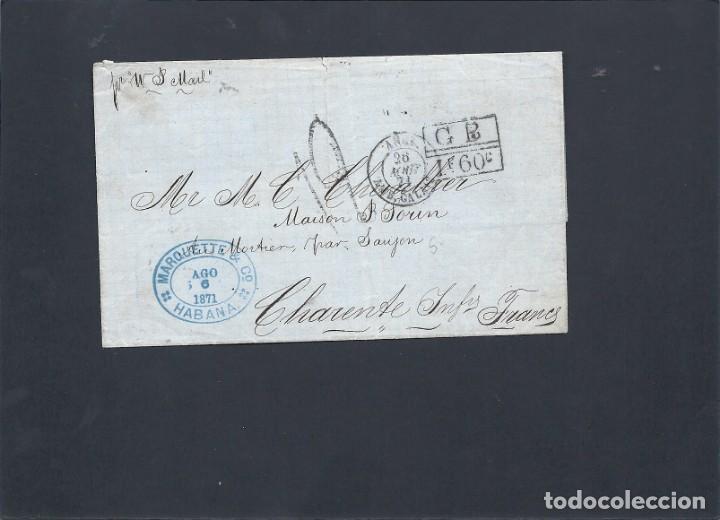 CUBA.CARTA AÑO 1871. (Sellos - España - Colonias Españolas y Dependencias - América - Cuba)