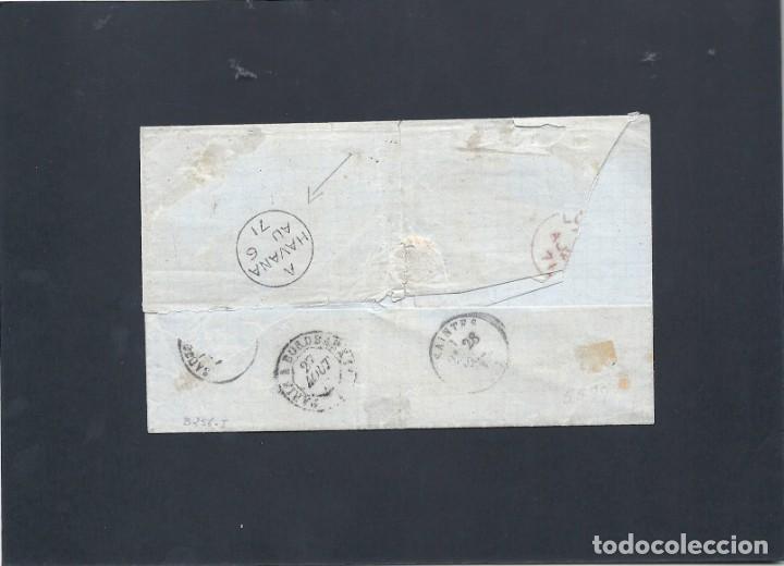 Sellos: CUBA.CARTA AÑO 1871. - Foto 2 - 131530862