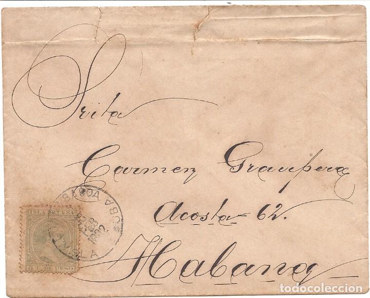CUBA.CARTA 1892. (Sellos - España - Colonias Españolas y Dependencias - América - Cuba)