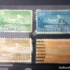 Sellos: CUBA, AÉREO 1931,** 4-5-7-12**. Lote 133891434