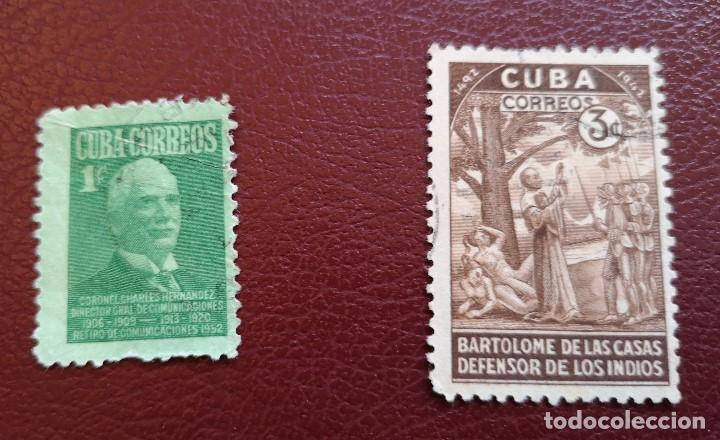 LOTE 2 SELLOS 1944 Y 1952 USADO (Sellos - España - Colonias Españolas y Dependencias - América - Cuba)
