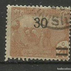 Sellos: FRANCIA COLONIAS- USADO- TUNISIE 1925 HABILITADO. Lote 135346898