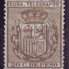Sellos: AÑO 1884. CUBA TELEGRAFOS 63 * MH .NUEVO. LUJO. Lote 136513430