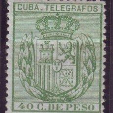 Sellos: AÑO 1884. CUBA TELEGRAFOS 64 * MH .NUEVO. LUJO. Lote 136513502