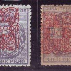 Sellos: AÑO 1883. CUBA TELEGRAFOS 58/61 *MH VC 120 EUROS. LUJO. Lote 136514666