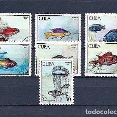 Sellos: CUBA,1969,PISCICULTURA,USADOS,YVERT 1294-1300. Lote 136585330