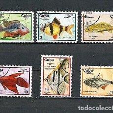 Sellos: CUBA,1977,PECES DEL ACUARIO DEL PARQUE LENIN,USADOS,YVERT 1993-1998. Lote 136586078