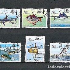 Sellos: CUBA,1981,PECES PELÁGICOS,USADOS,YVERT 2243-2248. Lote 136586458