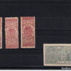 Sellos: 4 FISCALES DE PUERTO RICO - GIRO Y ADUANAS . Lote 138584090