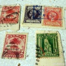 Sellos: 5 SELLOS COLONIAS FILIPINAS, CUBA. Lote 138971750