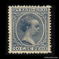 Sellos: PUERTO RICO. 1891-1892.ALFONSO XIII.40CT. AZUL.NUEVO*. EDIF.99 SCOTT 99. Lote 139089250