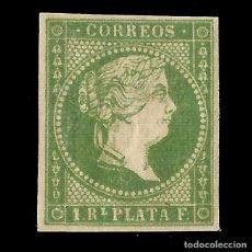 Sellos: ANTILLAS. 1857 ISABEL II.1 R. VERDE .NUEVO. EDIF.Nº8. Lote 139597410