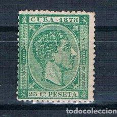 Sellos: ESPAÑA 1878 CUBA 47 NUEVO PERO VIEJECILLO DOS FOTOGRAFÍAS. Lote 140182606
