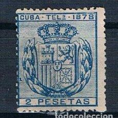 Sellos: ESPAÑA 1878 CUBA TELEGRAFOS 44 NUEVO CON GOMA DOS FOTOGRAFÍAS. Lote 140195830