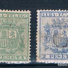 Sellos: ESPAÑA CUBA TELEGRAFOS 1875 EDIFIL 32/33. Lote 140324370