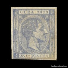 Sellos: CUBA 1879 ALFONSO XII.25C.ULTRAMAR.SIN DENTAR. NUEVO. EDIF.Nº53. Lote 140578094