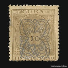 Sellos: CUBA 1883.ALFONSO XII.HABILITADO.10C.S 10C.MNH.EDIFIL 84. Lote 140613990