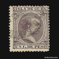 Sellos: CUBA 1890. ALFONSO XIII.1 CT. CASTAÑO NEGRO.USADO.EDIFIL.112. Lote 140632870
